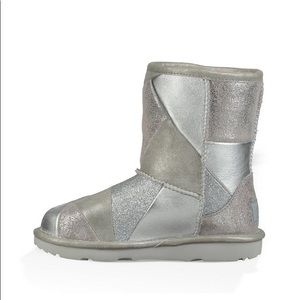 UGGS KIDS' Boots patchwork silver NEW Kids' shoes